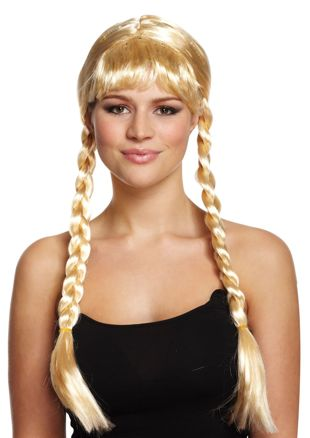 Blonde Long With Plaits Wig 200g