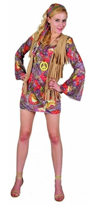 Adult Girl Woodstock Flower Costume