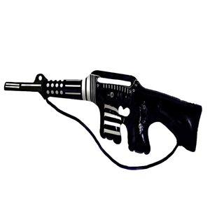 Inflatable Machine Gun Black With Silver 90cm