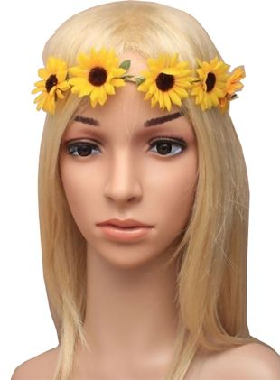 Sunflower Stretch Elastic Garland Bandeaux Browband
