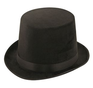 Black Lincoln Velour Hat
