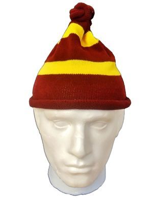 Maroon Yellow Hat