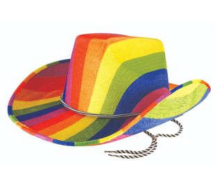Adult Rainbow Cowboy felt Hat