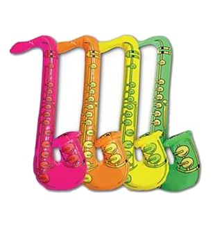Inflatable Saxophone (Pack Of 4)