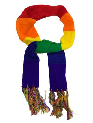 Unisex Rainbow Scarf