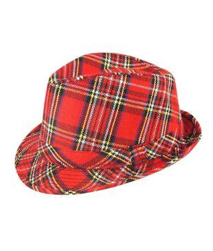 Adult Tartan Trilby Hat 27 Cm