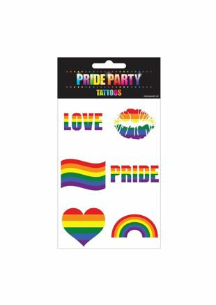 Rainbow Tattoos 5x5cm 6 Pcs (Pack of 12)