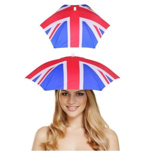 Adults Union Jack Umbrella Hat