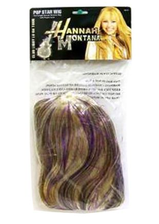 Pop Star Wig With Purple Lurex