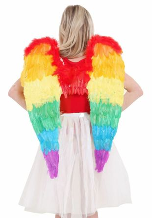 Rainbow Foldable Angel Wings Medium (60 x 40 cm)