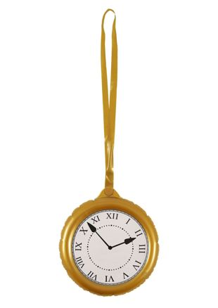 Inflatable Jumbo Clock with necklace 24.5cm
