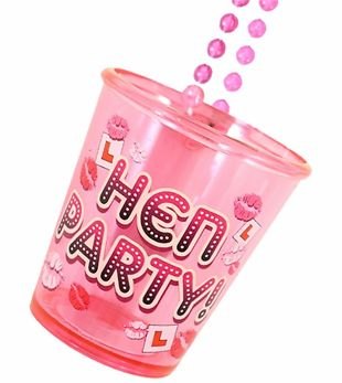 Shot Glass Hen Party With Necklace 84cm