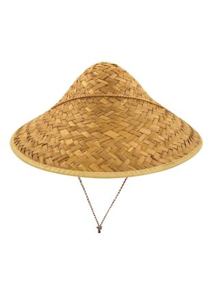 Coolie Straw Hat with Edge Binding