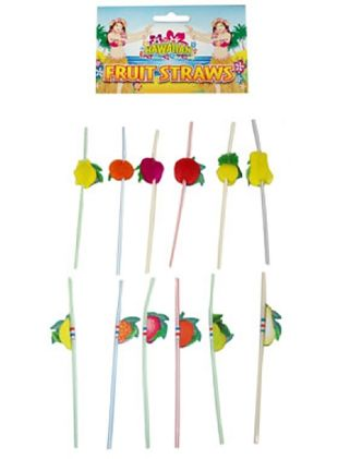 Umbrella Fruit Straw Assorted Pack Of 12