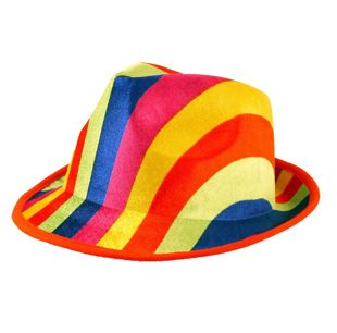 Adult Rainbow Gangster Hat