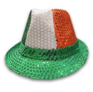 Irish Sequin Trilby Hat