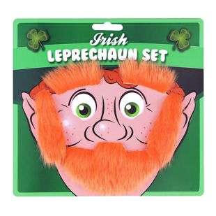 Beard Eyebrows And Sideburns Leprechaun Set