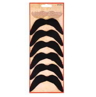 Moustache Black 6 Pc Set