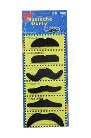 Black Mustache Set (6pcs)