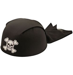 Adult Pirate Black Hat Bandana
