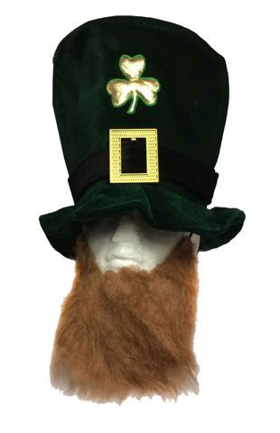 Adult Deluxe Shamrock Velvet With Beard Hat