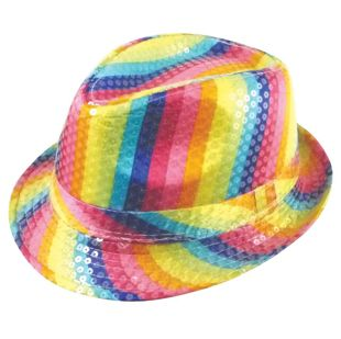 Rainbow Trilby Party Hat